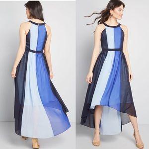 ModCloth Peachy Queen Maxi Dress Shades of Blue